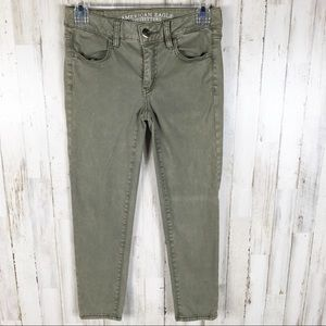 American Eagle AE Jegging Crop Jeans Green AEO